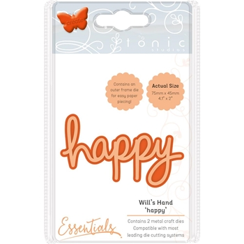 Tonic HAPPY Miniature Moments Sentiment Die 1883e