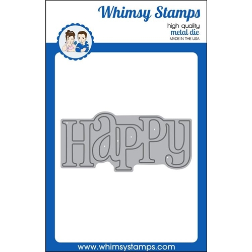 Whimsy Stamps HAPPY LARGE WORD Die wsd275 Preview Image