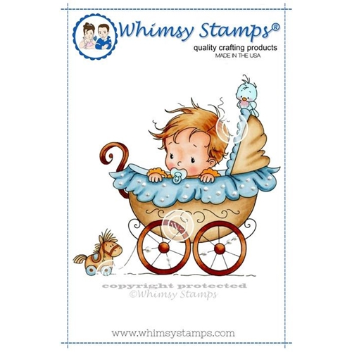 Whimsy Stamps WEE ONE Rubber Cling Stamp szws154 Preview Image