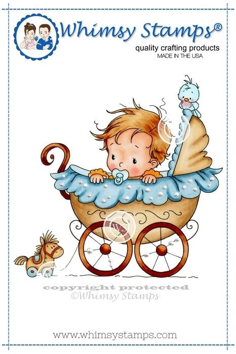 Whimsy Stamps WEE ONE Rubber Cling Stamp szws154 zoom image