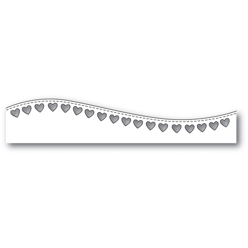 Poppy Stamps STITCHED HEART CURVE Craft Die 1988 Preview Image