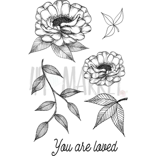 49 and Market VALERIE'S YOU ARE LOVED Clear Stamp Set VO-85953* Preview Image
