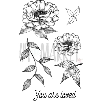 49 and Market VALERIE'S YOU ARE LOVED Clear Stamp Set VO-85953*