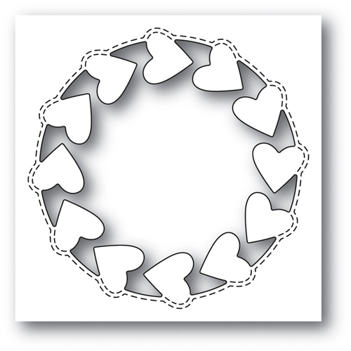 Memory Box ROUNDABOUT HEART POPPY STAMPS Craft Die 2005 Preview Image