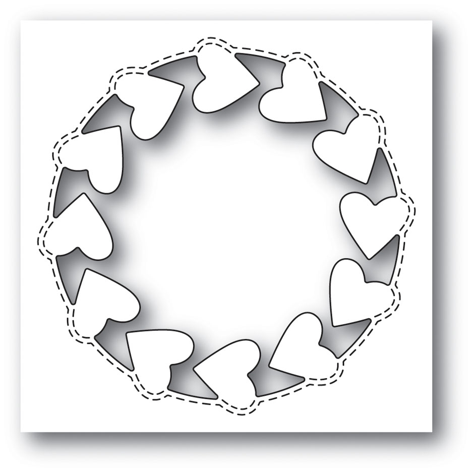 Memory Box ROUNDABOUT HEART POPPY STAMPS Craft Die 2005 zoom image