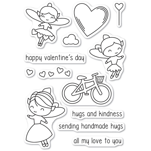 Poppy Stamps Clear Stamps VALENTINE FAIRIES CL462 Preview Image