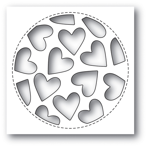 Poppy Stamps TUMBLED HEART COLLAGE Craft Die 2023 Preview Image