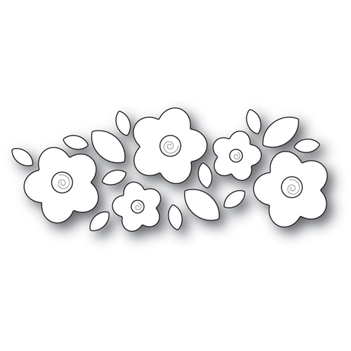Poppy Stamps FLORAL CLUSTER Craft Die 2031 Preview Image