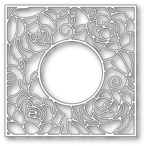 Memory Box ROSE FRAME POPPY STAMPS Craft Die 2033 Preview Image