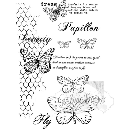 49 and Market GABI'S BUTTERFLIES Clear Stamp Set GP-4611* Preview Image