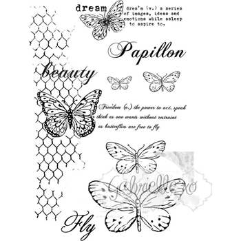 49 and Market GABI'S BUTTERFLIES Clear Stamp Set GP-4611*