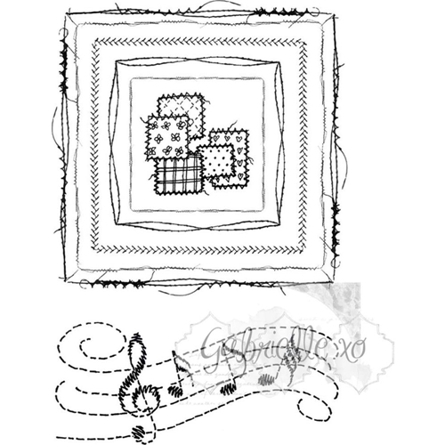 49 and Market GABI'S SQUARE STITCH Clear Stamp Set GP-4598 Preview Image