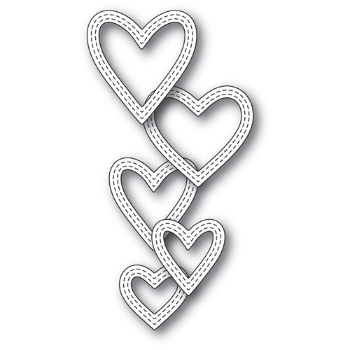 Memory Box CLASSIC DOUBLE STITCHED HEART RINGS Craft Die 99938 Preview Image