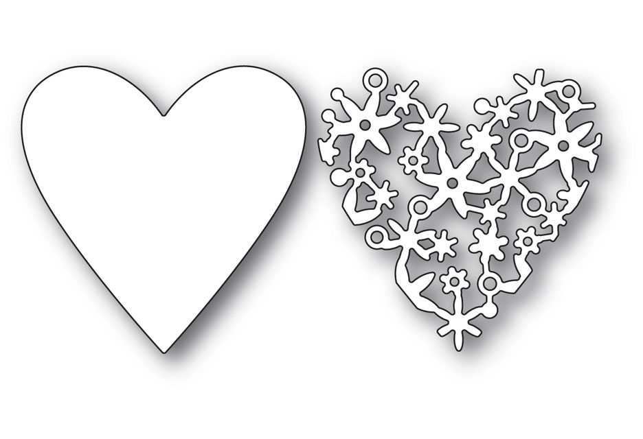 Memory Box LACE CUT HEART Craft Die 99939 zoom image