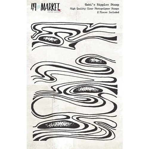 49 and Market GABI'S RIPPLES Clear Stamp Set GP-86592* Preview Image
