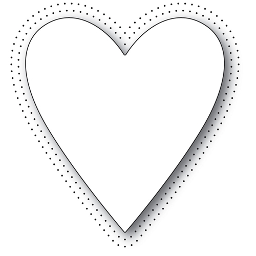 Memory Box PINPOINT HEART Craft Die 99950 Preview Image
