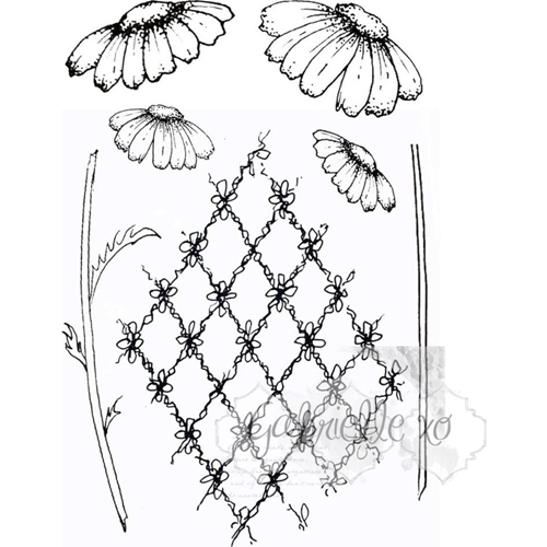 49 and Market GABI'S DAISIES Clear Stamp Set GP-4710 Preview Image