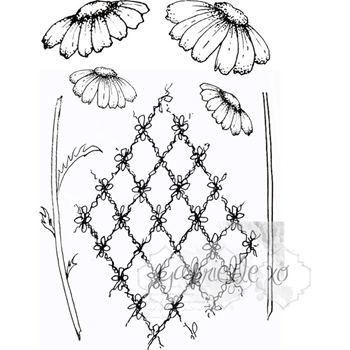 49 and Market GABI'S DAISIES Clear Stamp Set GP-4710*