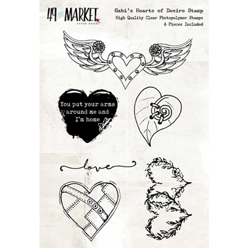 49 and Market GABI'S HEARTS OF DESIRE Clear Stamp Set GP-4666*