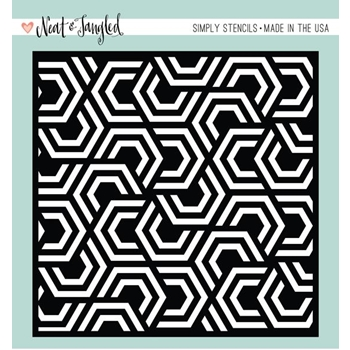 Neat and Tangled NESTING HEXAGONS Stencil NAT344