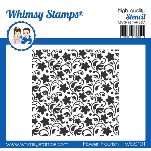 Whimsy Stamps FLOWER FLOURISH Stencil wss101* Preview Image