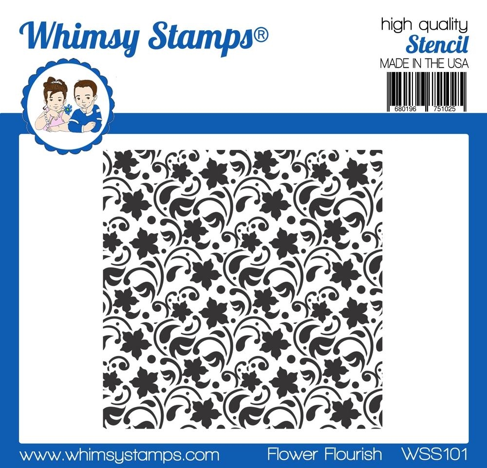 Whimsy Stamps FLOWER FLOURISH Stencil wss101* zoom image