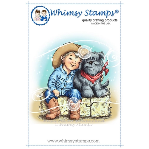 Whimsy Stamps BEST BUDS Rubber Cling Stamp c1305* Preview Image
