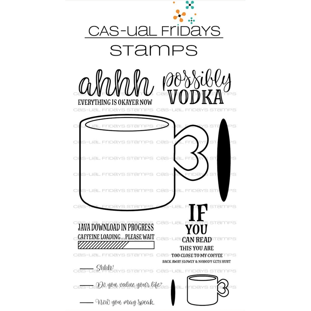 CAS-ual Fridays CUP OF COFFEE Clear Stamps CFS1801 zoom image