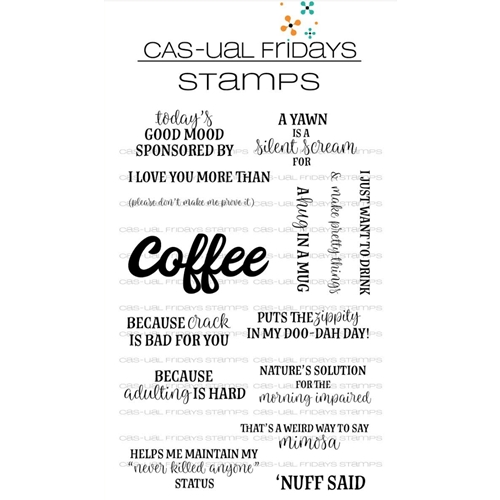 CAS-ual Fridays COFFEE TALK Clear Stamps CFS1802 Preview Image