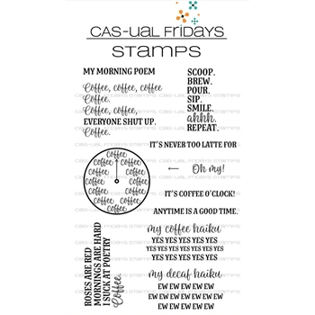CAS-ual Fridays TIME FOR COFFEE Clear Stamps CFS1803