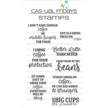 CAS-ual Fridays HOT COFFEE Clear Stamps CFS1804