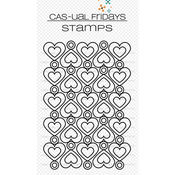 CAS-ual Fridays HEART TO HEART Clear Stamps CFS1807