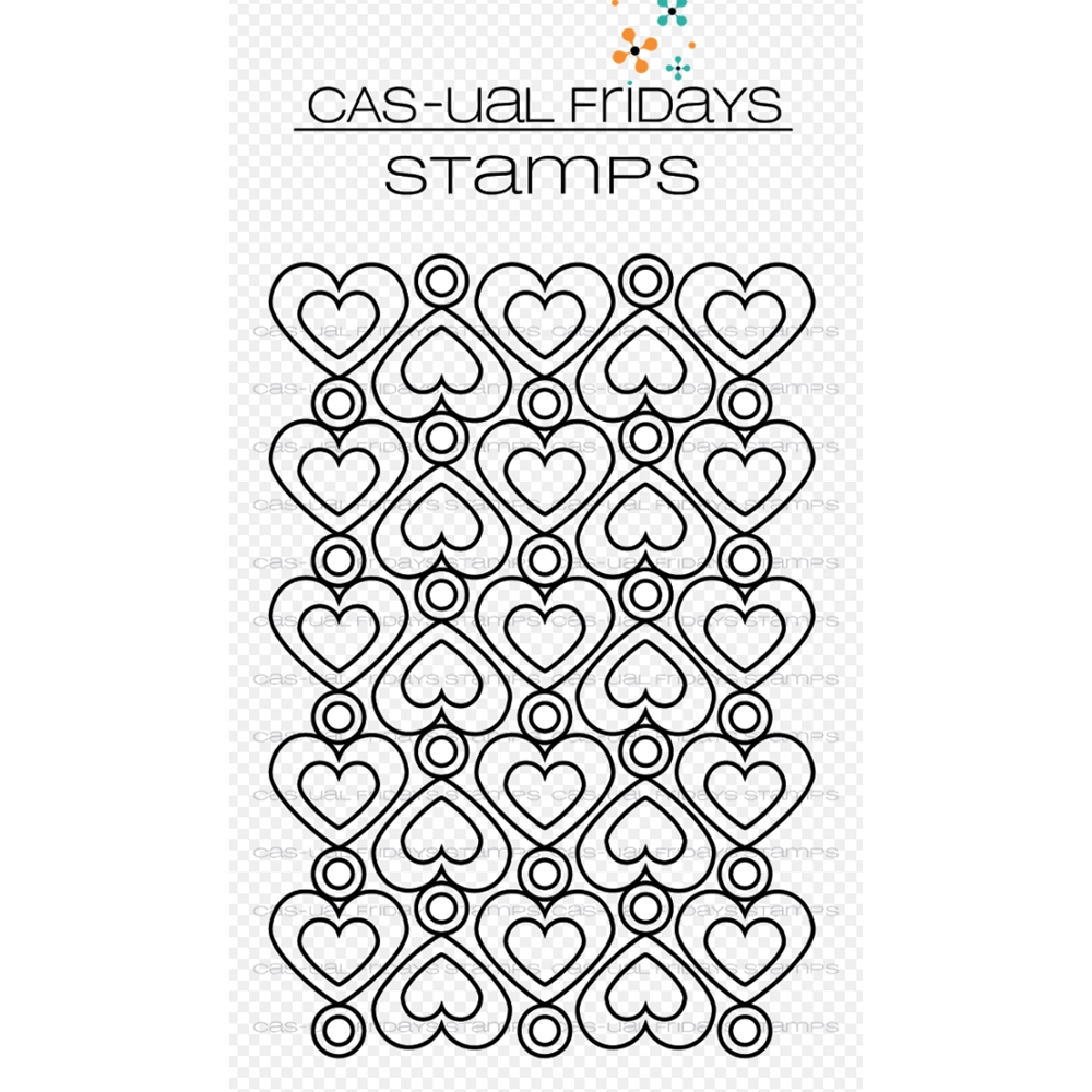 CAS-ual Fridays HEART TO HEART Clear Stamps CFS1807 zoom image