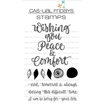 CAS-ual Fridays PEACE AND COMFORT Clear Stamps CFS1806