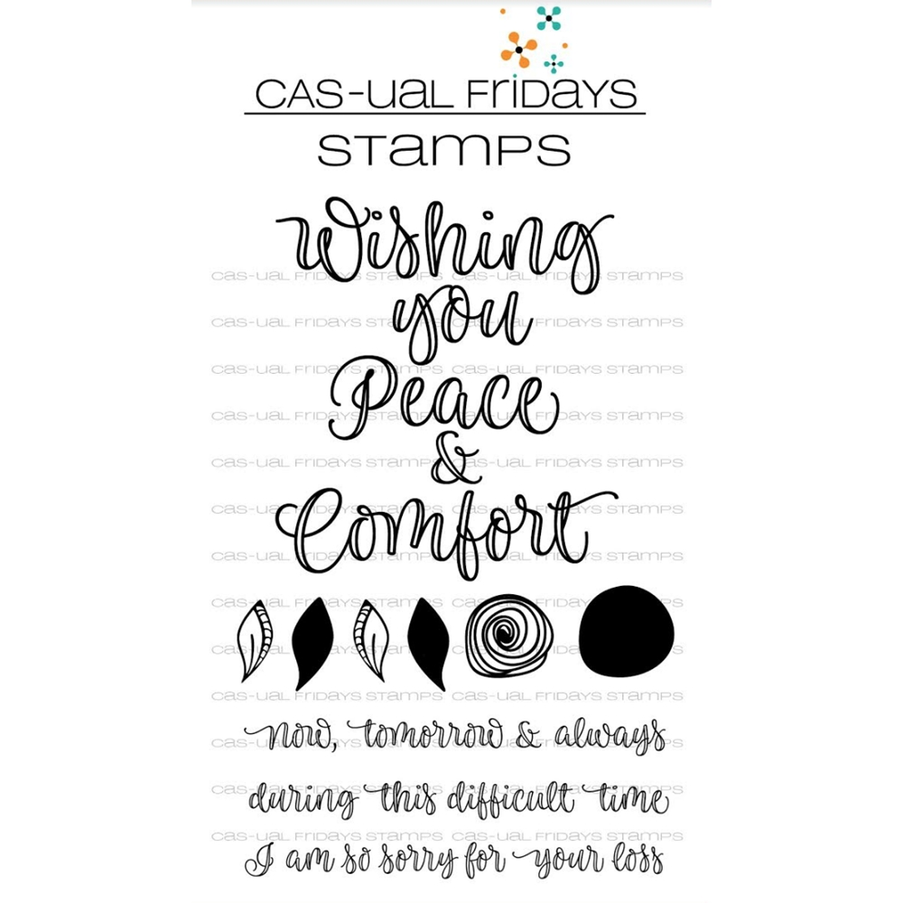CAS-ual Fridays PEACE AND COMFORT Clear Stamps CFS1806 zoom image