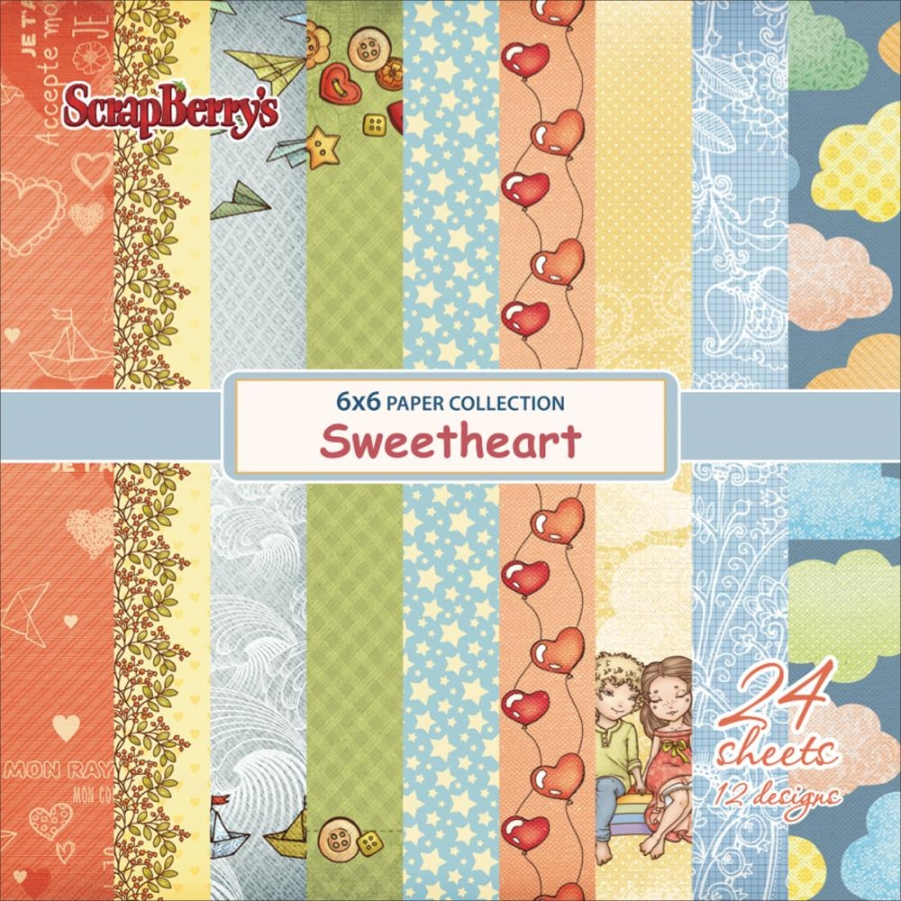 ScrapBerry's SWEETHEART 6 x 6 Paper Pack 606510g zoom image
