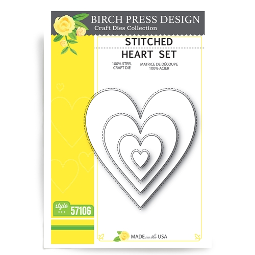 Birch Press Stitched Heart Die Set