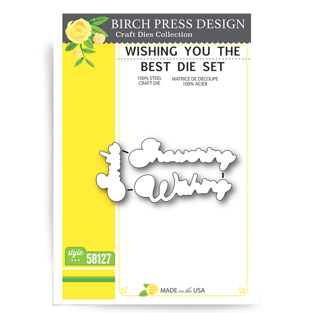 Birch Press Design WISHING YOU THE BEST Craft Die 58127 zoom image
