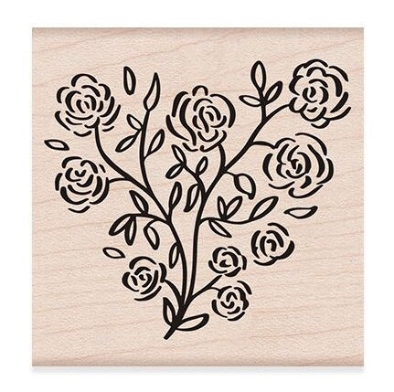 Hero Arts Rubber Stamp ROSE HEART F6276* zoom image