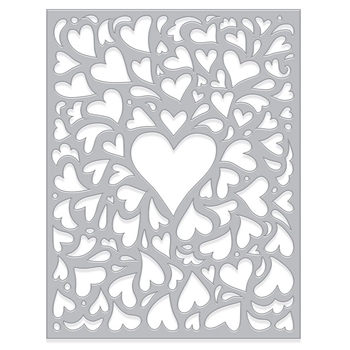 Hero Arts Fancy Dies WINDOW ON LOVE CONFETTI DI483