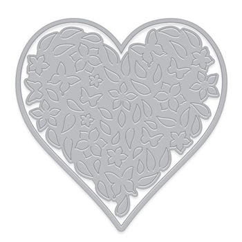Hero Arts Fancy Die Paper Layering FLORAL HEART with Frame DI441