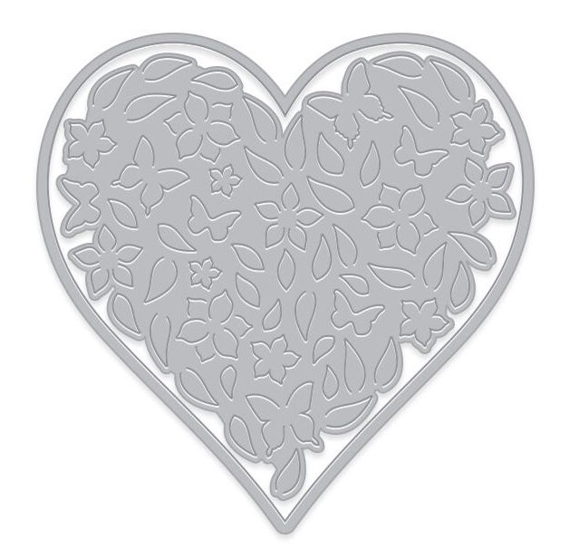 Hero Arts Fancy Die Paper Layering FLORAL HEART with Frame DI441 zoom image