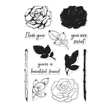 Hero Arts Clear Stamps Color Layering ROSE CM243