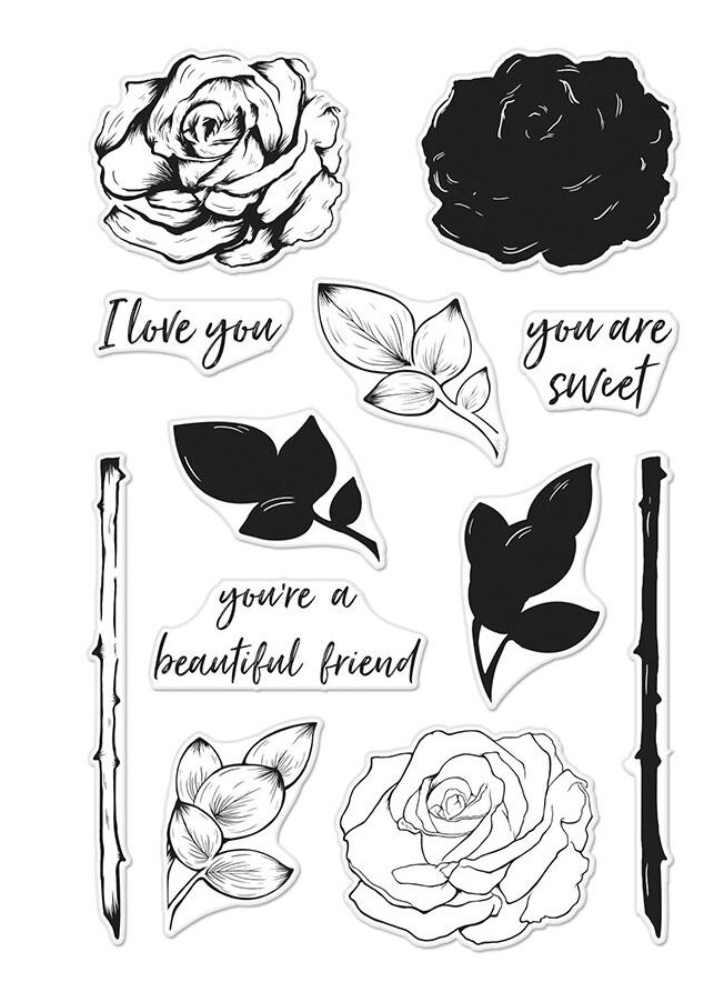 Hero Arts Clear Stamps Color Layering ROSE CM243 zoom image