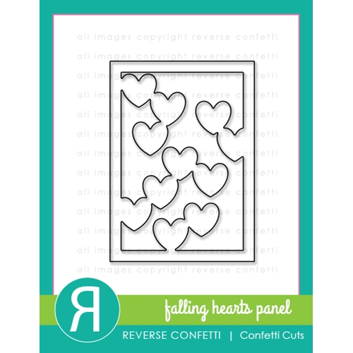 Reverse Confetti Cuts FALLING HEARTS PANEL Die Set Preview Image