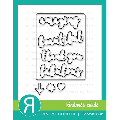 Reverse Confetti Cuts KINDNESS CARDS Die Set* Preview Image