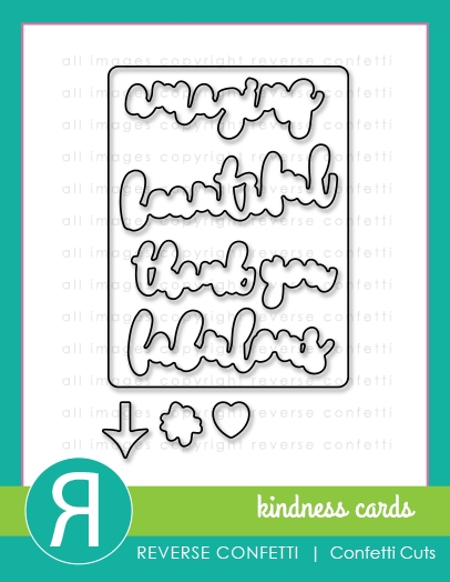 Reverse Confetti Cuts KINDNESS CARDS Die Set zoom image