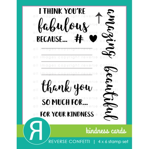 Reverse Confetti KINDNESS CARDS Clear Stamp Set  Preview Image