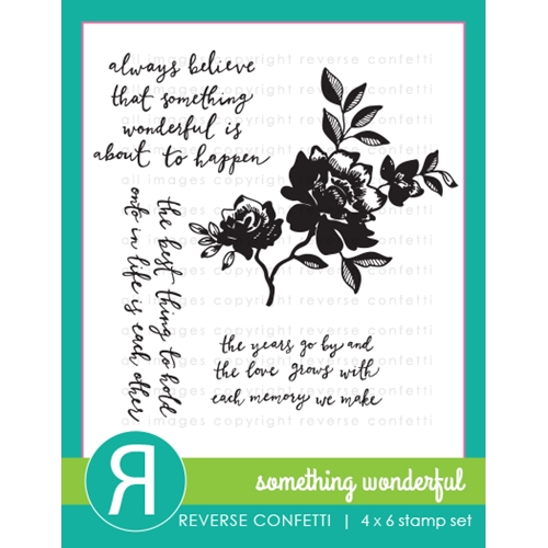 Reverse Confetti SOMETHING WONDERFUL Clear Stamp Set * Preview Image