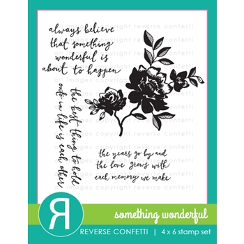 Reverse Confetti SOMETHING WONDERFUL Clear Stamp Set